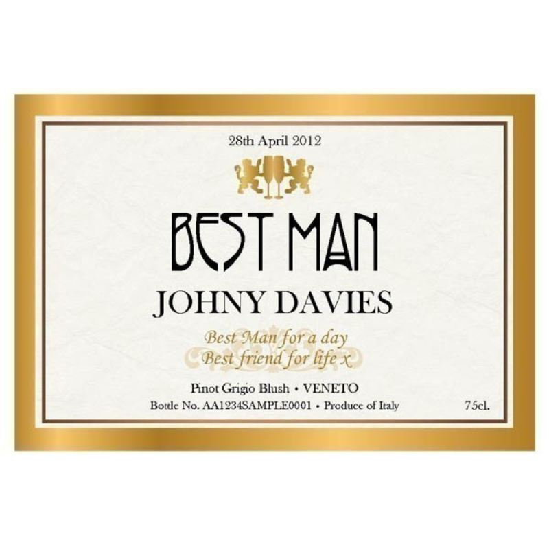 Personalised Best Man Wedding Day Wine product image