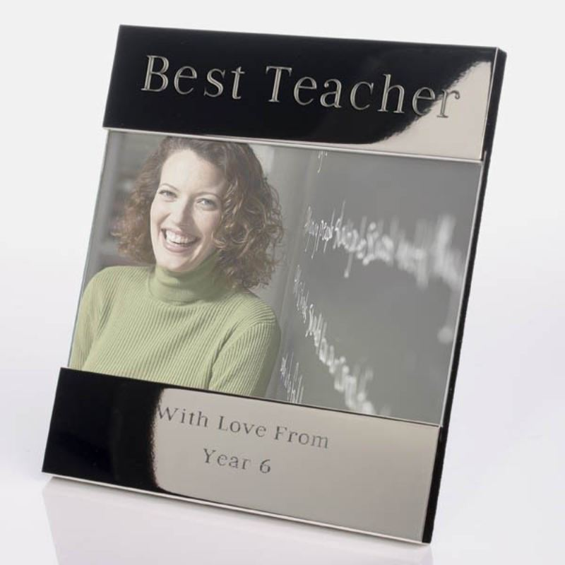 Best Teacher Shiny Silver Photo Frame product image