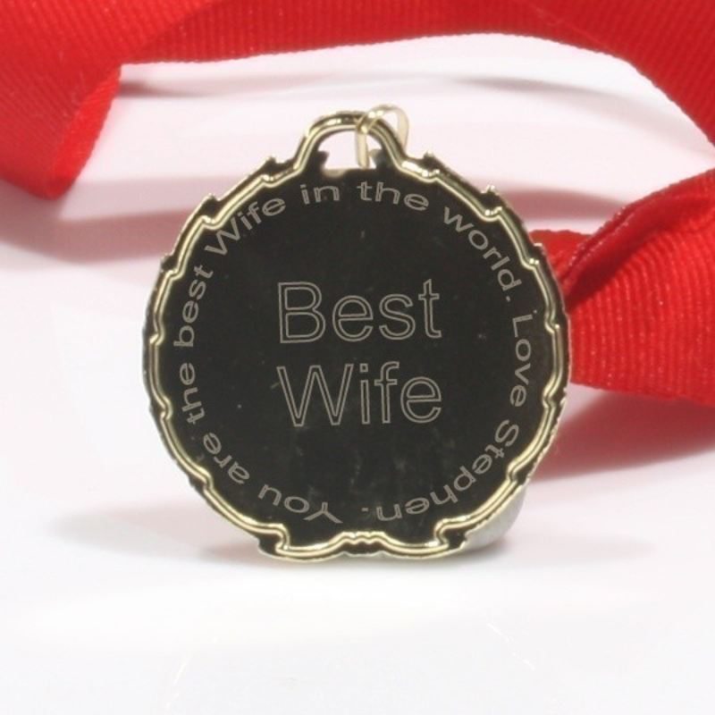 Best Wife Personalised Medal product image