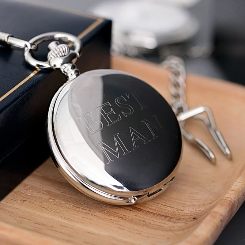 Engraved Pocket Watch for Best Man product image