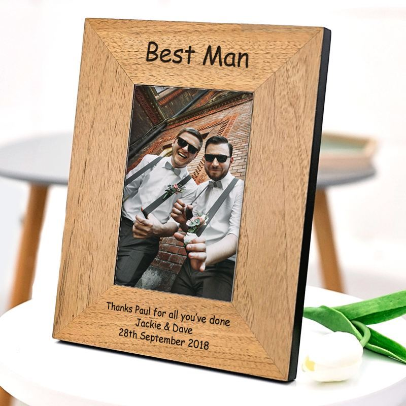 Personalised Best Man Wood Photo Frame 6 x 4 product image