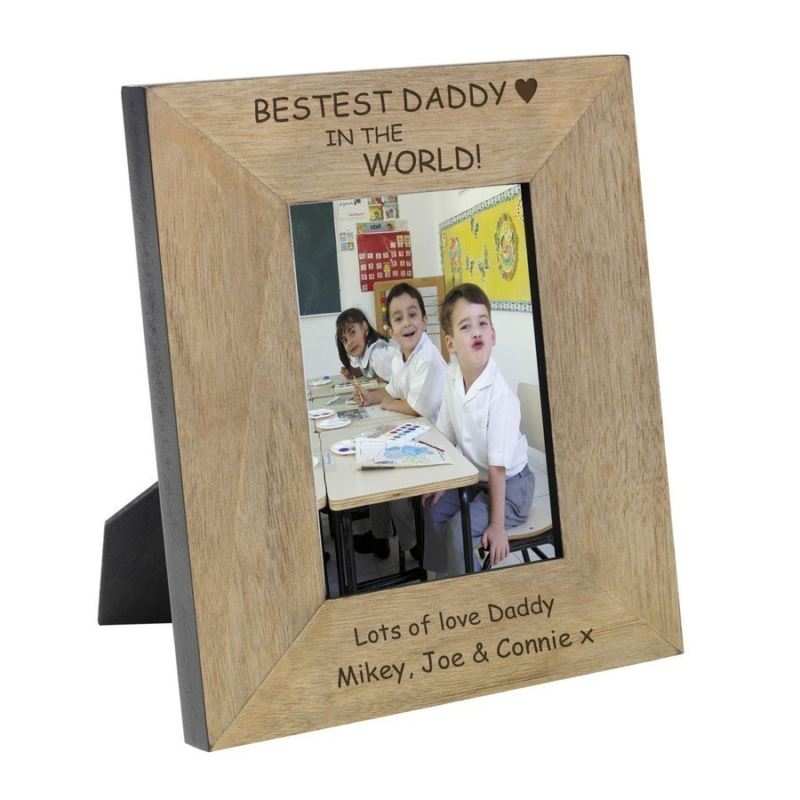 Bestest Daddy in the World Wood Frame 6 x 4 product image