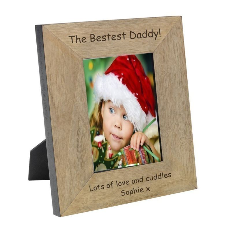 Bestest Daddy Wood Frame 6 x 4 product image