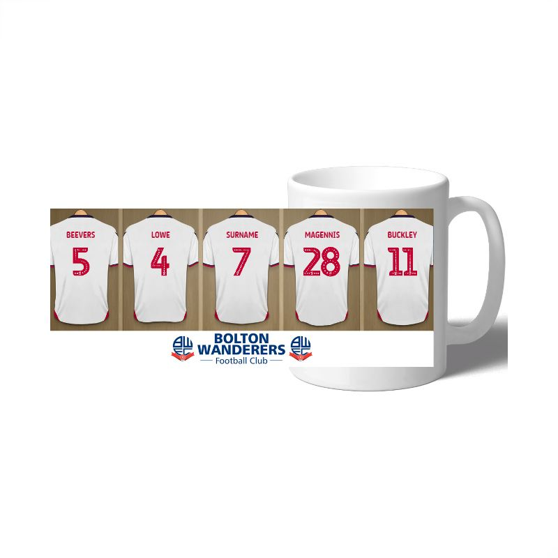 Personalised Bolton Wanderers FC Dressing Room Mug product image