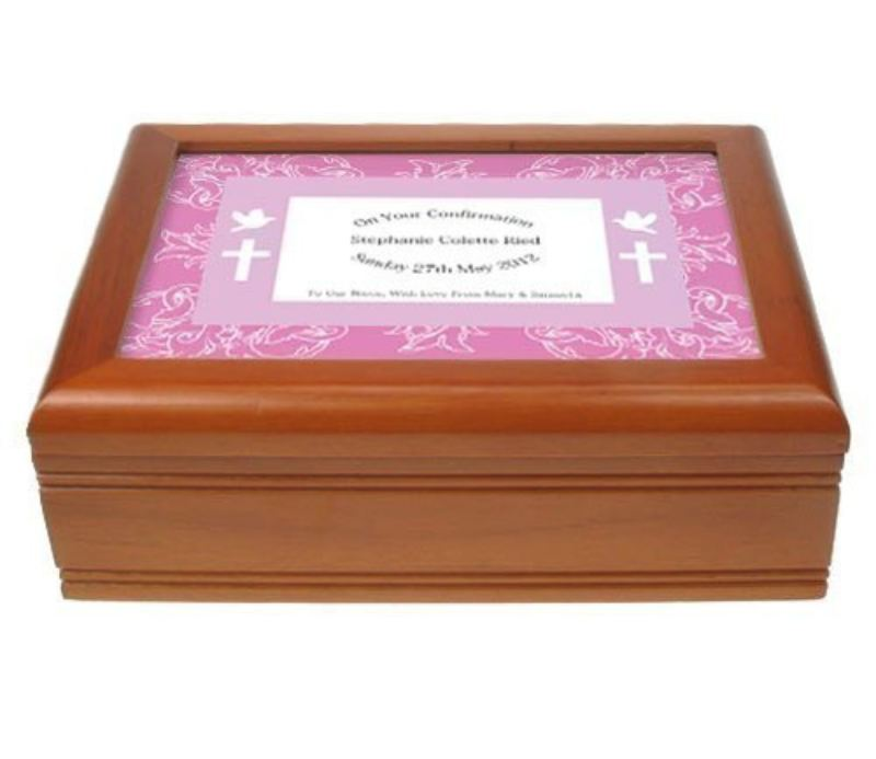 Border Design Musical Confirmation Jewellery Box product image