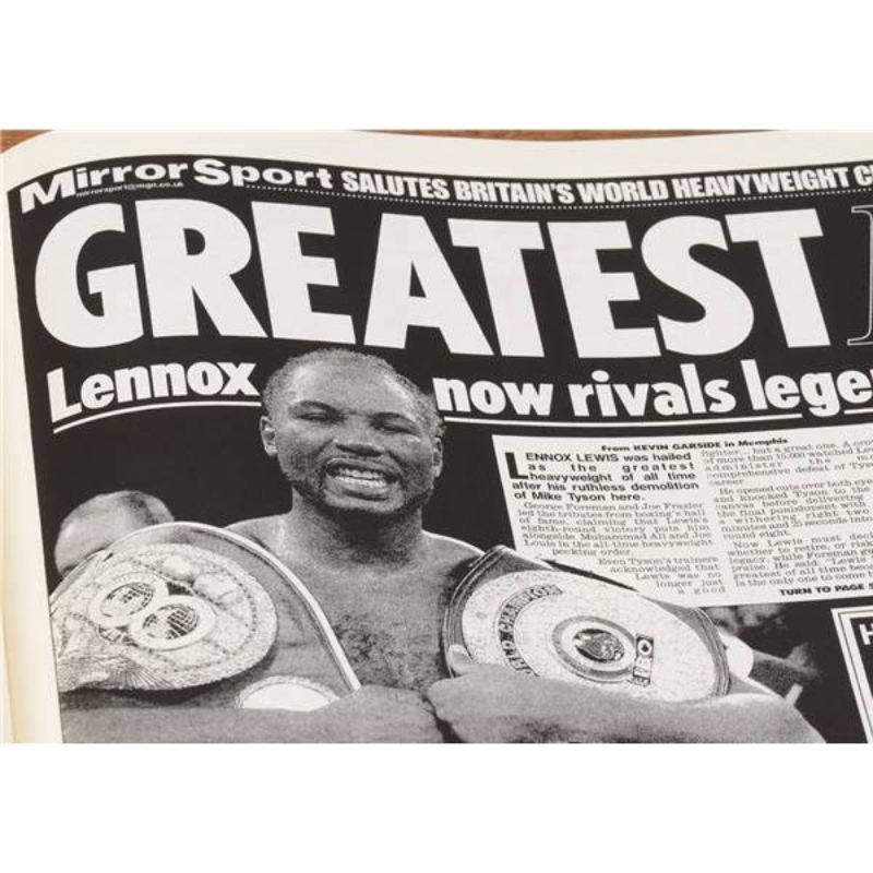 Boxing Newspaper Book - Leatherette Cover product image