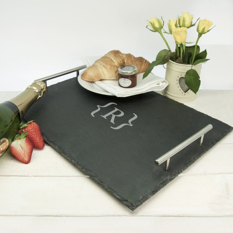 Breakfast In Bed Slate Tray - Brackets Design product image
