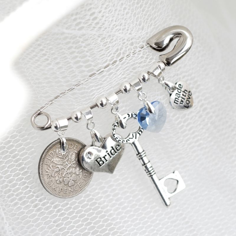 Personalised Wedding Bridal Pin product image