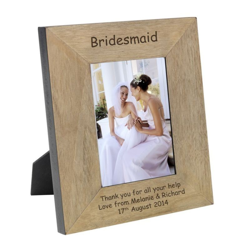 Bridesmaid Wood Photo Frame 6 x 4 product image
