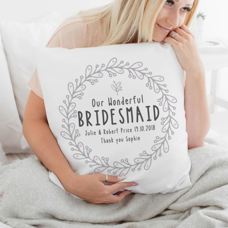 Personalised Bridesmaid Cushion product image