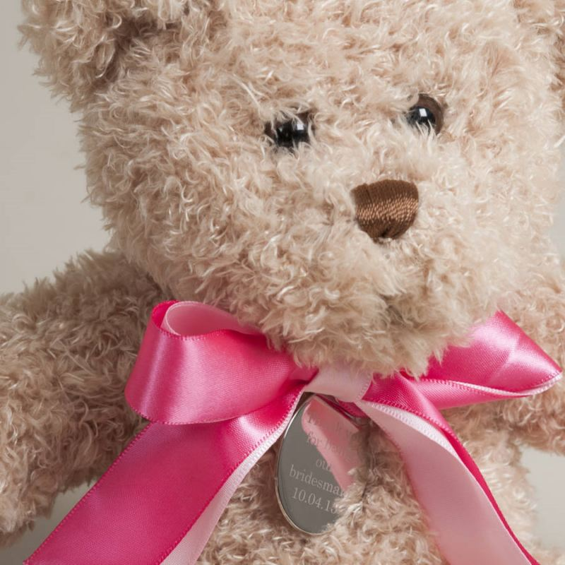 Thank You Little Bridesmaid Bear With Personalised Tag product image