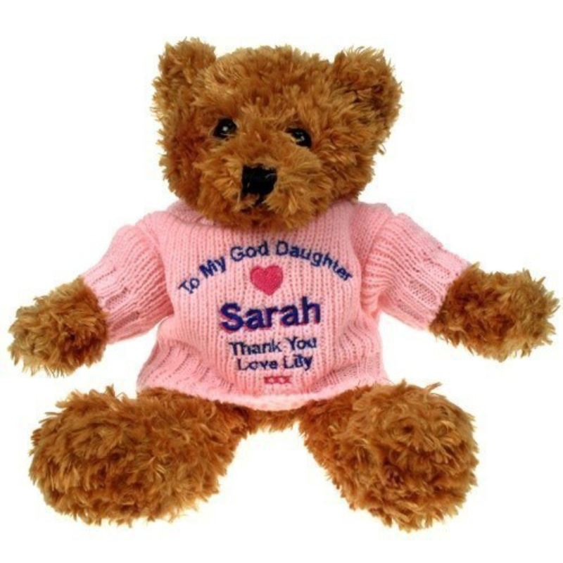 Brown Teddy Bear: God Daughter product image