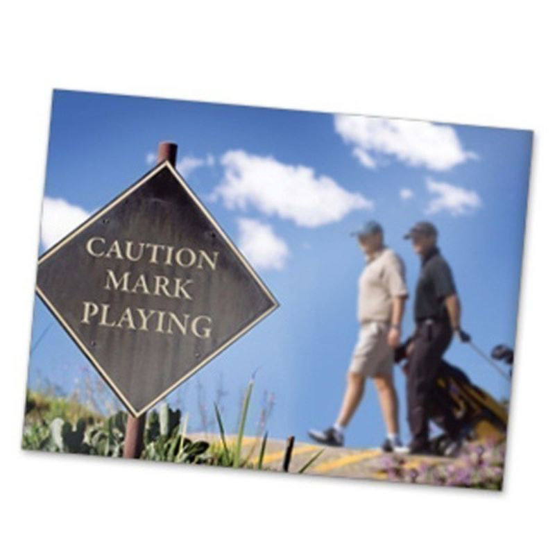 Caution Playing Golf Personalised Framed Poster product image