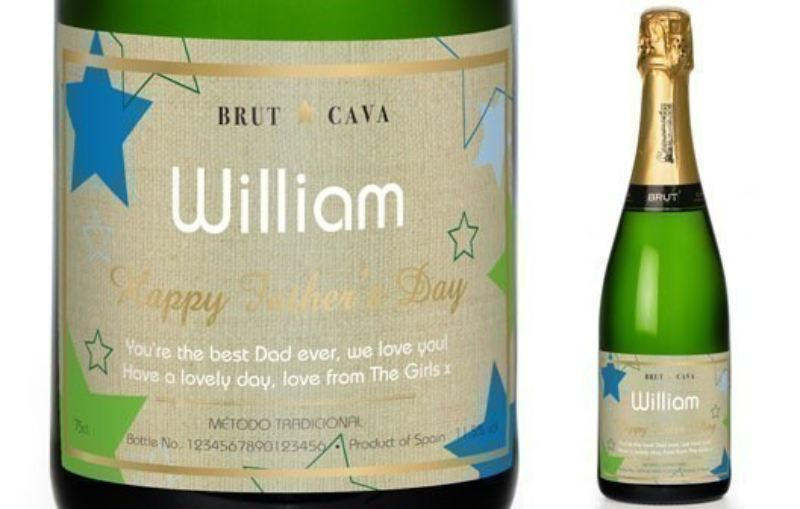 Cava with Stars Father's Day Label in a Silk Lined Gift Box product image