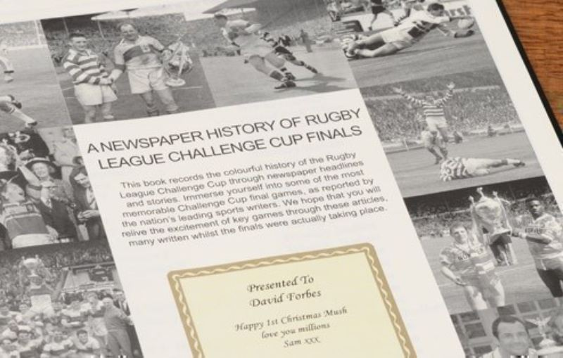 Challenge Cup Rugby League Newspaper Book - Leatherette Cover product image