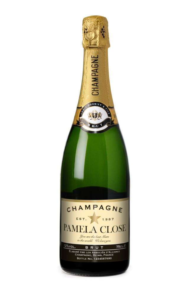 Personalised Champagne and Newspaper product image