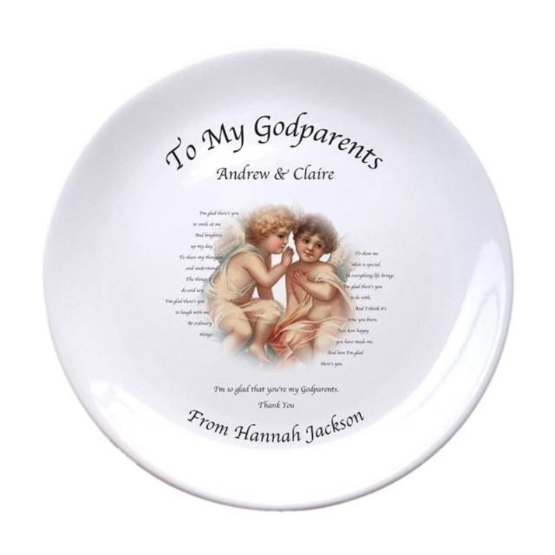 "Cherubs God Parent 8"" Bone China Coupe Plate product image"