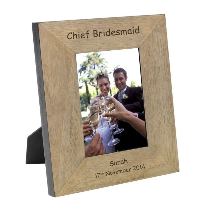 Chief Bridesmaid Wood Photo Frame 6 x 4 product image