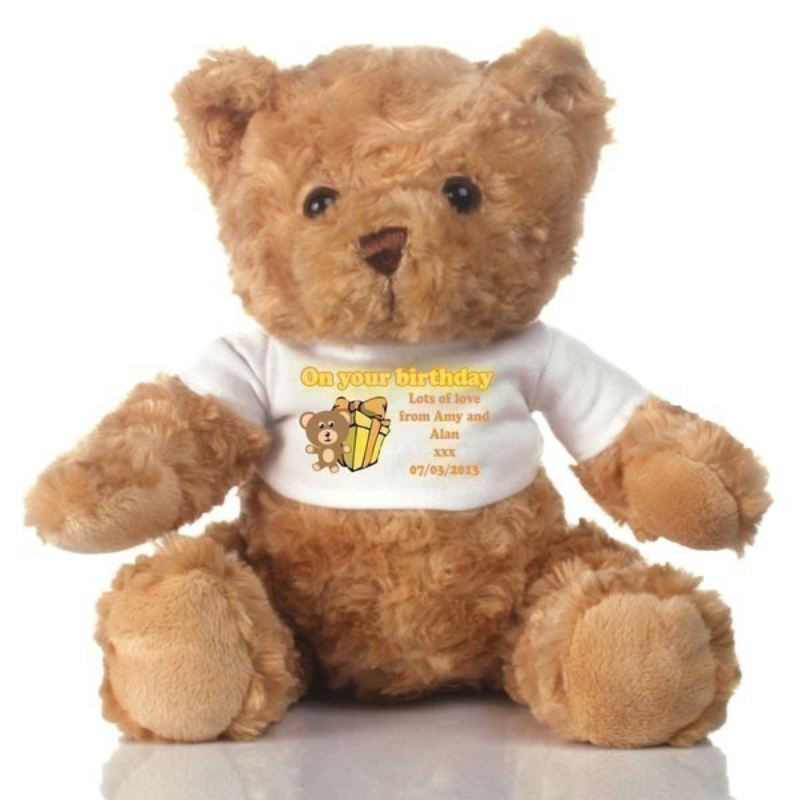 Children's Personalised Birthday Teddy Bear product image