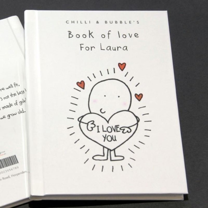 Chilli Amp Bubble Book Of Love For Her The Personalised