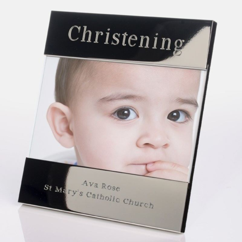 Christening Shiny Silver Photo Frame product image