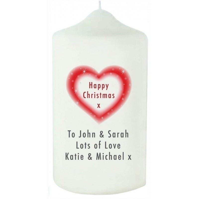 Christmas Heart Candle product image