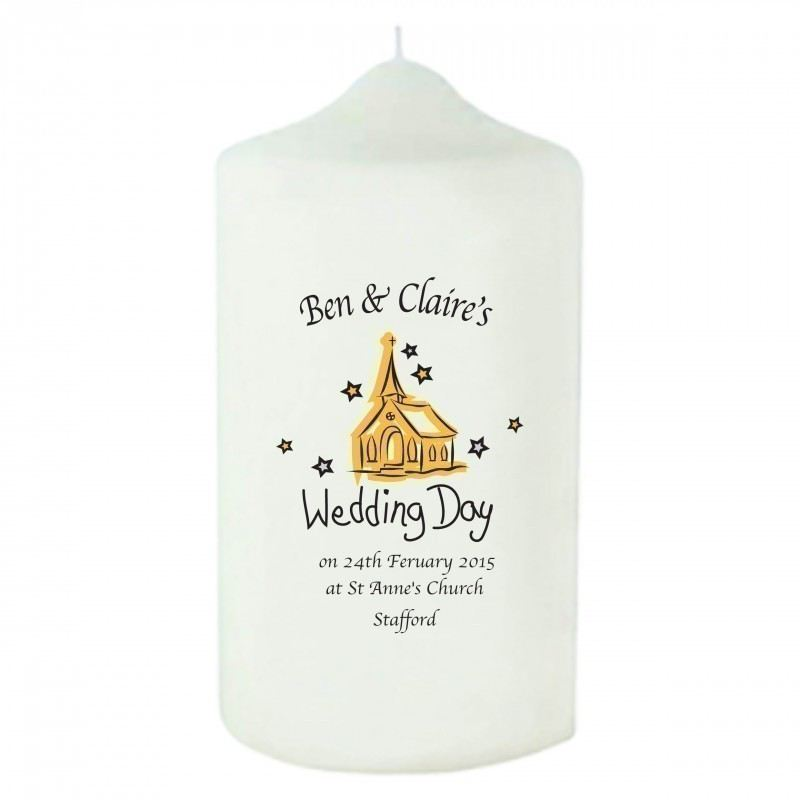 Church Wedding Day Candle product image