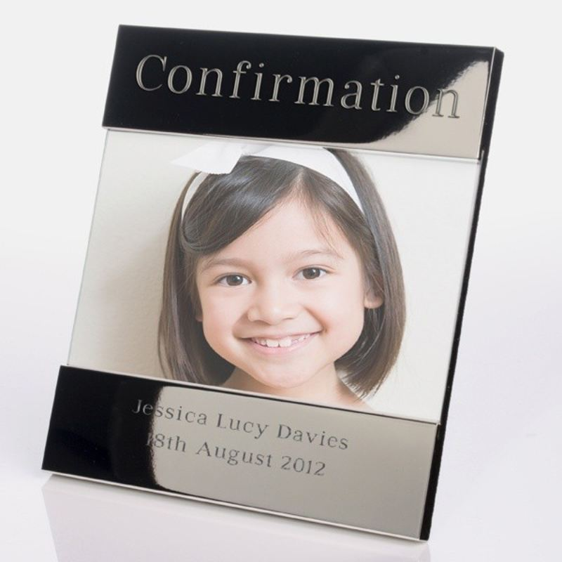 Confirmation Shiny Silver Photo Frame product image