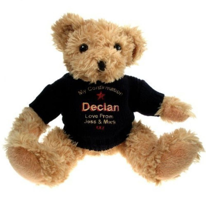Confirmation Teddy Bear with Blue Jumper product image
