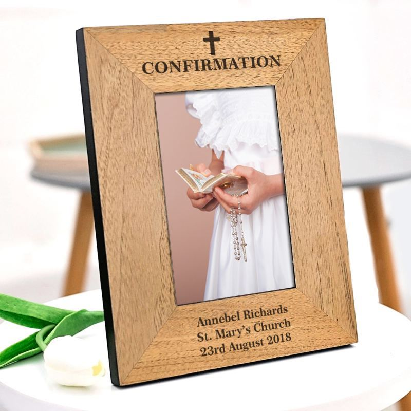 Personalised Confirmation Wooden Frame product image