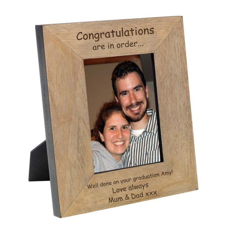 Congratulations are in Order Wood Photo Frame 6 x 4 product image