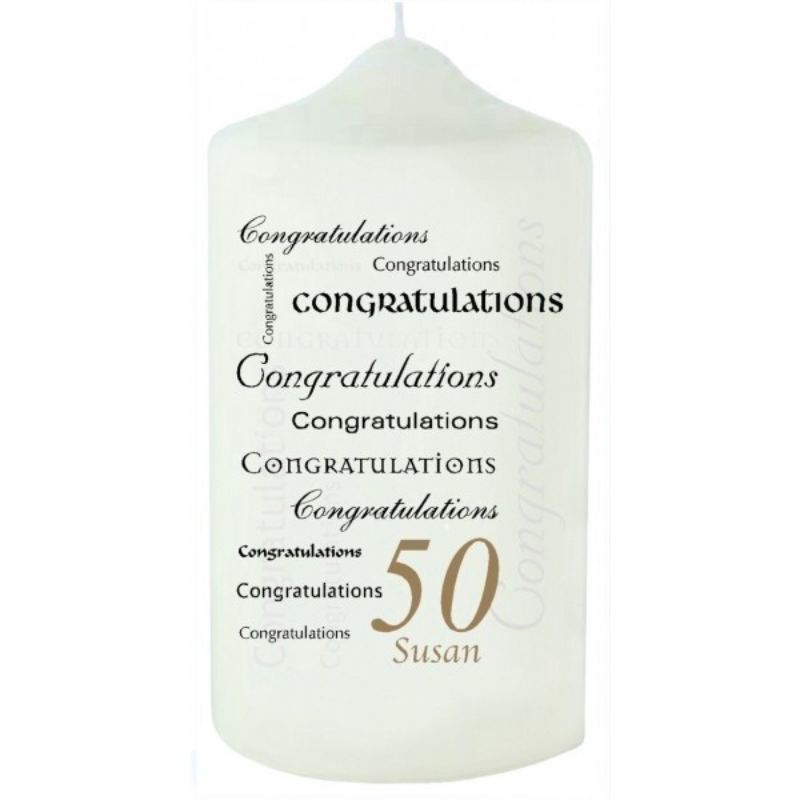 Congratulations Birthday Candle - Any Age product image