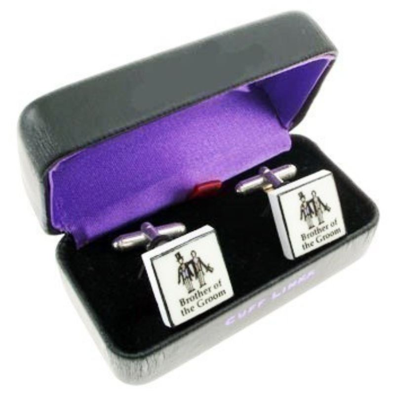 Contemporary Brother of the Groom Cufflinks product image
