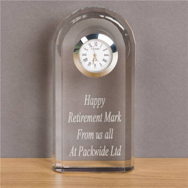 Crystal Clock The Personalised Gift Shop