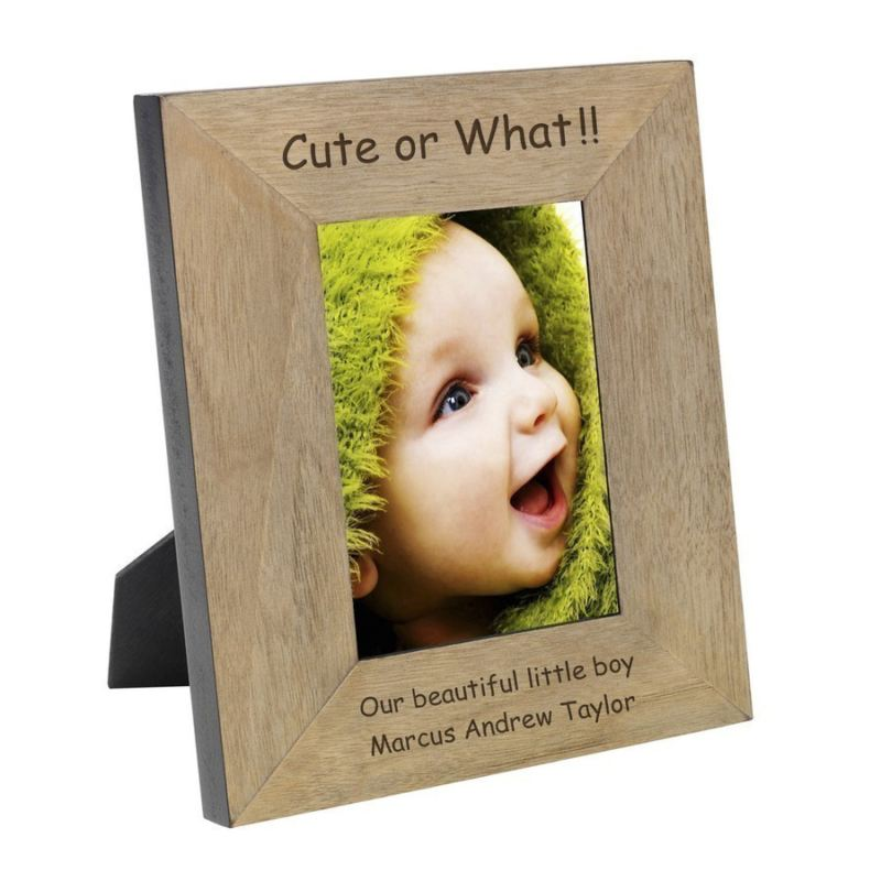 Cute or What! Wood Frame 6 x 4 product image