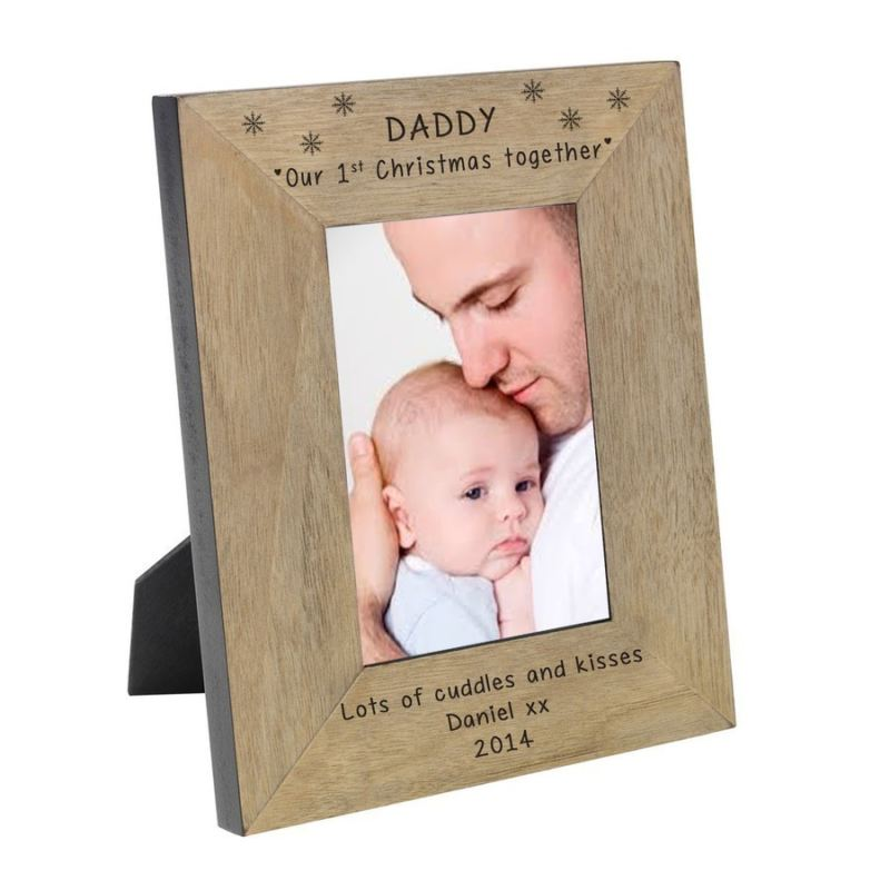 Daddy our 1st Christmas together Wood Frame 6 x 4 product image