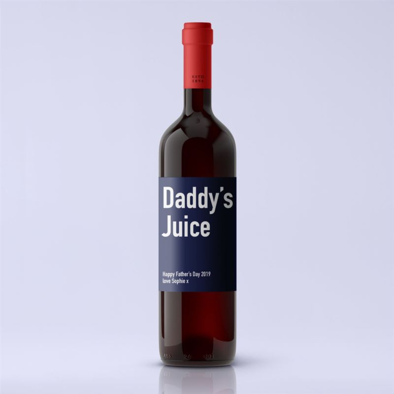 Daddy's Juice Premium Personalised Red Wine product image