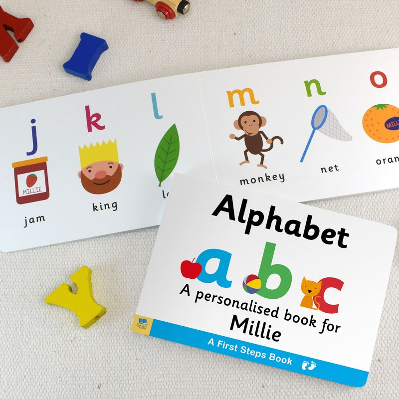 Dual box Set Alphabet and Numbers Personalised Board Books product image