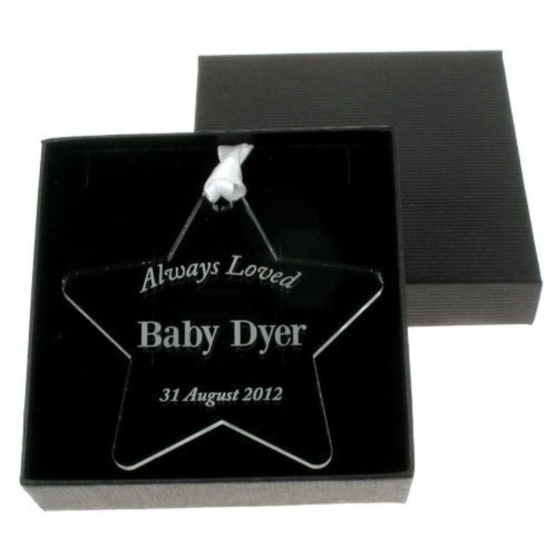 Engraved Always Loved Star product image