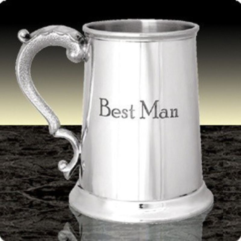 Engraved Best Man Pewter Tankard product image