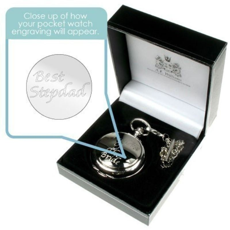 Engraved Best Stepdad Pocket Watch product image