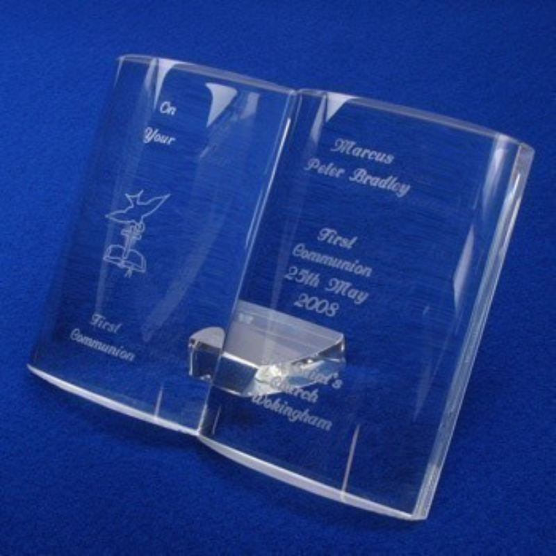 Engraved Crystal First Holy Communion Bible product image