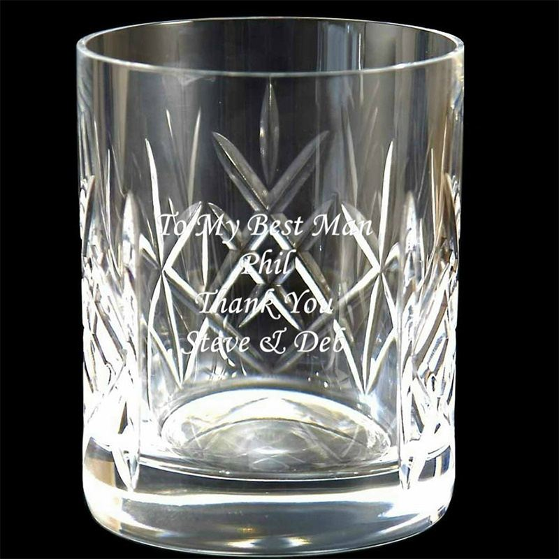 Engraved Cut Crystal Whisky Tumbler The Personalised