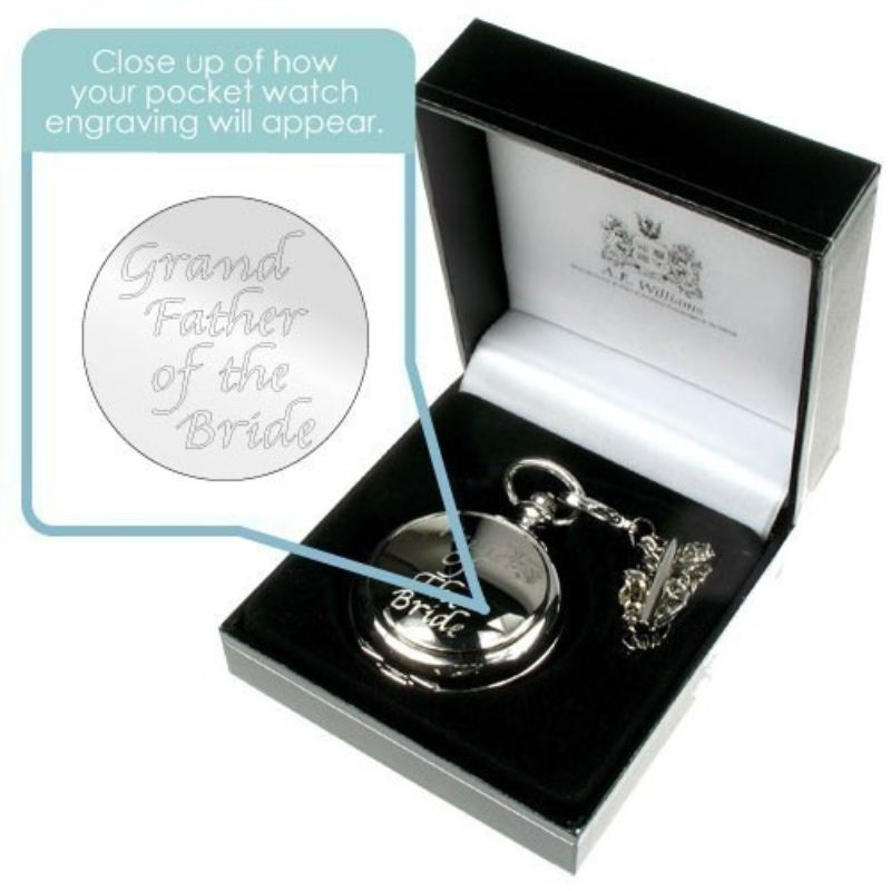 Engraved Grandfather of the Bride Pocket Watch product image