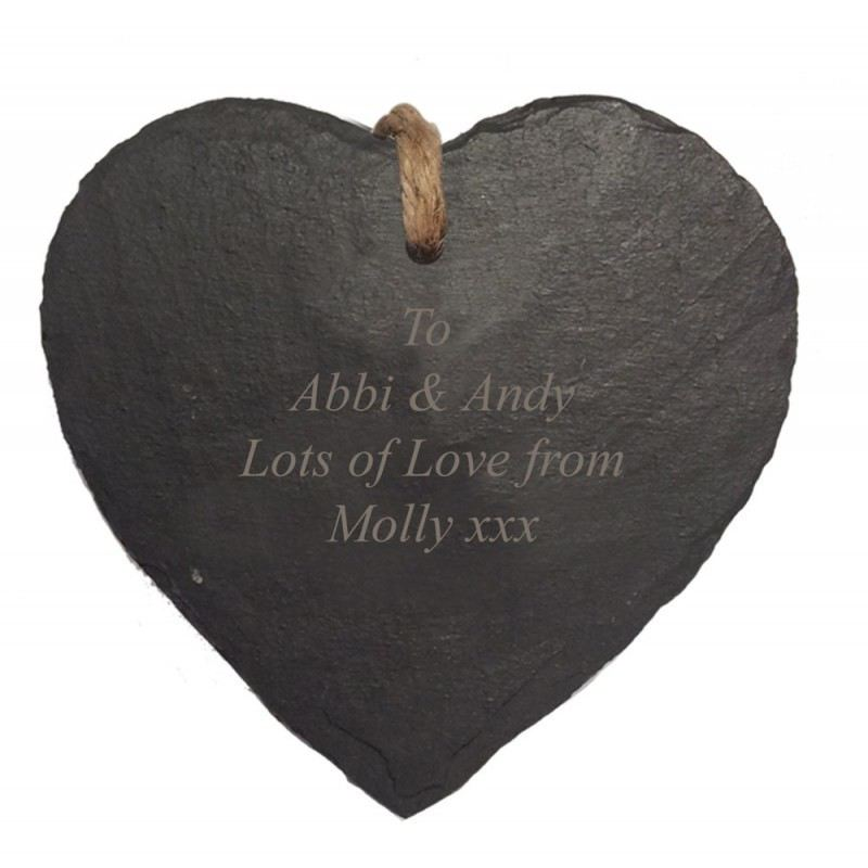 Engraved Heart Hanging Slate product image