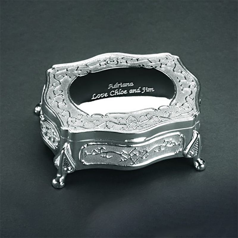 Engraved Oblong Trinket Box with Feet product image