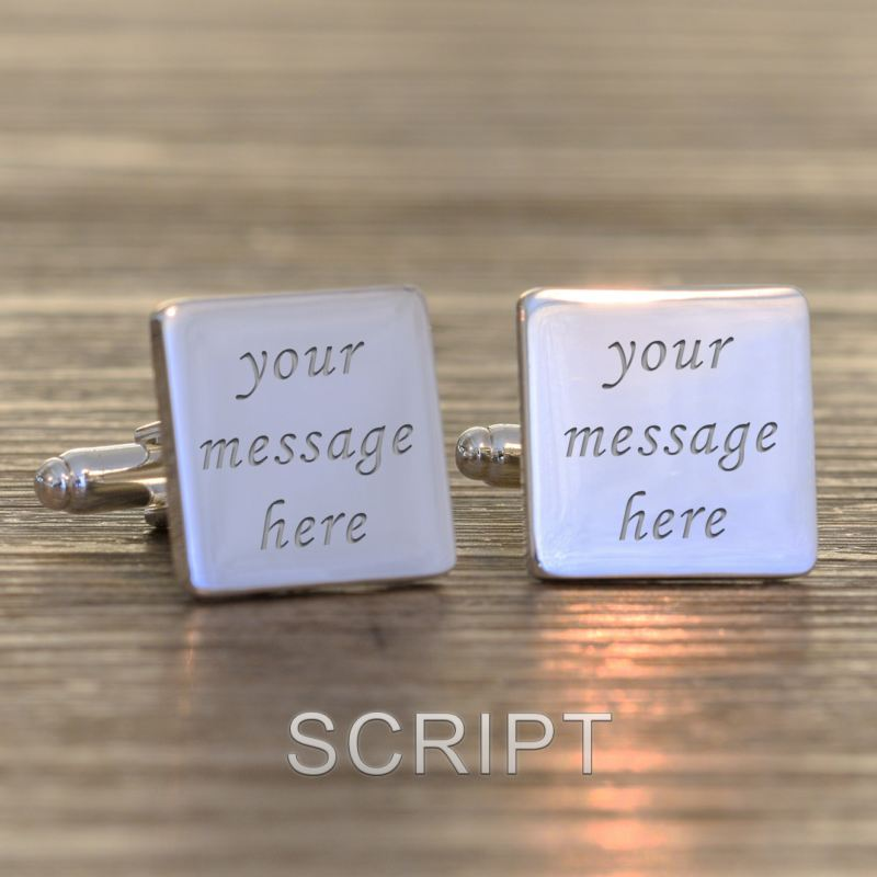 Engraved Square Cufflinks product image