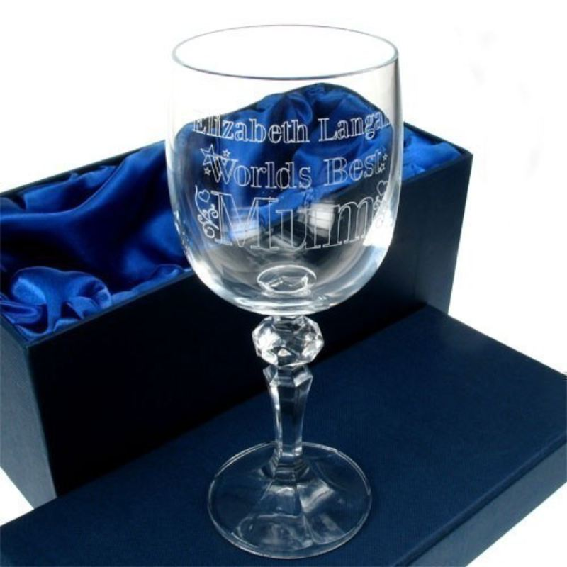 Engraved Wine Glass: Worlds Best Mum product image