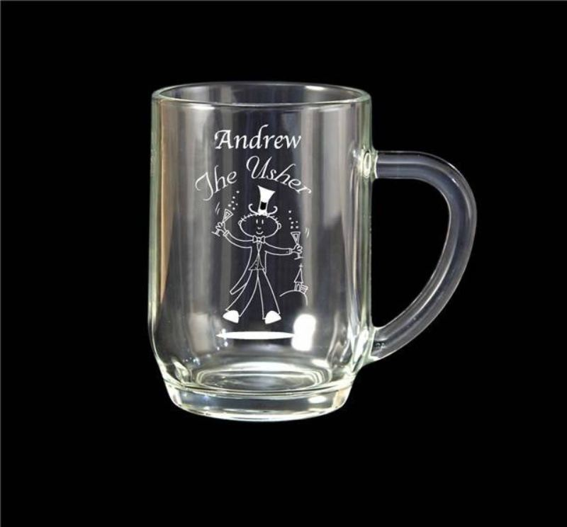 Etched Wedding Character 1/2 Pint Tankard product image