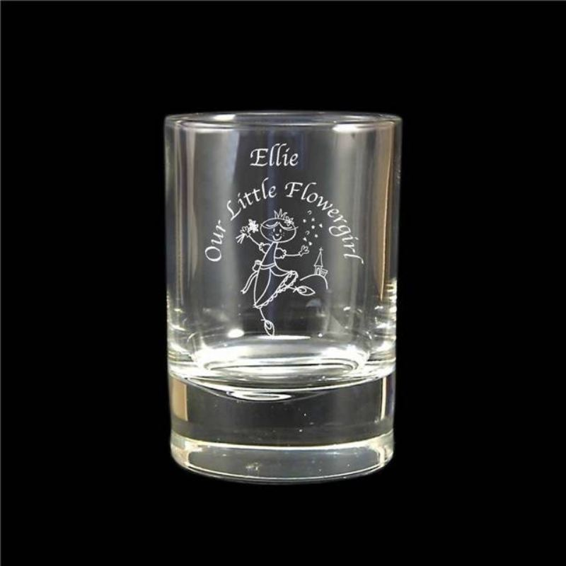 Etched Wedding Character Juice Glass product image